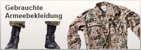 Gebrauchte Armeebekleidung