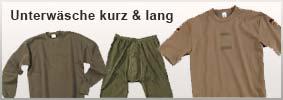 Unterwäsche kurz & lang