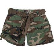 Army Shorts Woman, woodland
