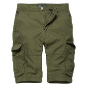 Shorts Rowing von Vintage Industries, oliv
