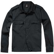 US Hemd Langarm, schwarz