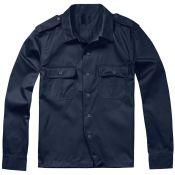 US Hemd Langarm, blau