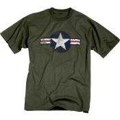 T-Shirt  US Airforce, oliv