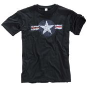 T-Shirt  US Airforce, schwarz