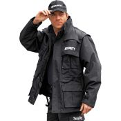 Security Jacke waterproof 6 in 1, schwarz