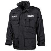 Security Jacke waterproof 6 in 1, schwarz