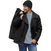 Marinejacke US Navy Pea Coat, schwarz