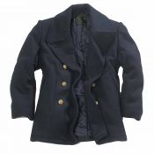 Navy Pea Coat, blau