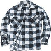 Holzfällerhemd, weiß-schwarz
