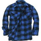Holzfällerhemd, blau-schwarz