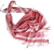 Shemagh Halstuch, weiß-rot