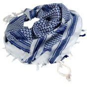 Shemagh Halstuch, weiß-blau