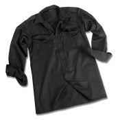 Pilotenhemd Langarm, schwarz