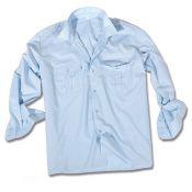 Pilotenhemd Langarm, hellblau