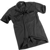 Pilotenhemd Kurzarm, schwarz