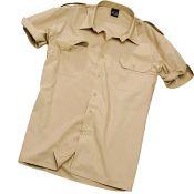 Pilotenhemd Kurzarm, beige