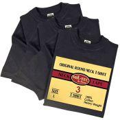 American T-Shirts 3er Pack, schwarz