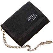 Geldbörse mit Kette, schwarz