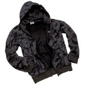 Hooded Zipp Jacke , russian-night-camo