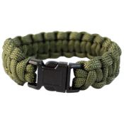Survival Armband Paracord 15mm, oliv