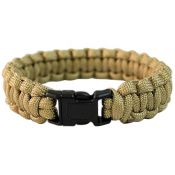 Survival Armband Paracord 15mm, coyote
