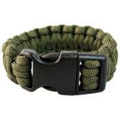 Survival Armband Paracord 22 mm, oliv