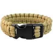 Survival Armband Paracord 22 mm, coyote