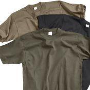 BW Unterhemden 3er Set, beige, oliv & schwarz