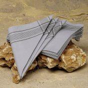 BW-Taschentücher, neu 4er-Pack, grau