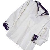 BW Marinehemd, gebraucht, blau-weiß