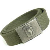 Gürtel Airborne,  Hosengürtel - Airborne Emblem - Textilgürtel -, oliv