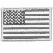 Patch USA Flagge, schwarz-silber