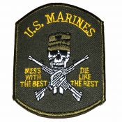 Patch US Marines Skull