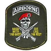 Patch Airborne Skull