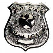 Metallabzeichen Special Police, silber
