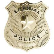 Metallabzeichen Special Police, gold