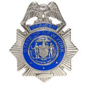 Badge Police Officer State NY, silber