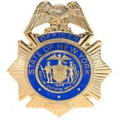 Badge Police Officer State NY, gold