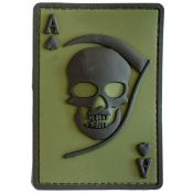 Rubber Patch 3D Death Ace, oliv-schwarz