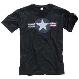 T-Shirt  US Airforce, schwarz