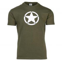 T-Shirt White Star, oliv