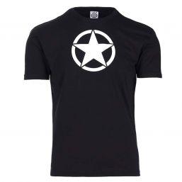 T-Shirt White Star, schwarz