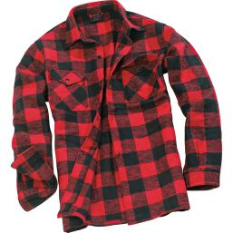 Holzfällerhemd, rot-schwarz
