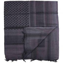 Shemagh Halstuch, grau-schwarz