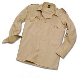 Pilotenhemd Langarm, beige
