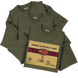 American T-Shirts 3er Pack, oliv