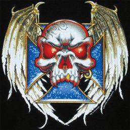 T-Shirt Vampire Skull, schwarz