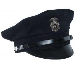 US Police Schirmmütze mit Abzeichen, blau