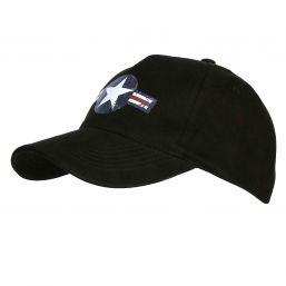 Baseballcap US Airforce, schwarz