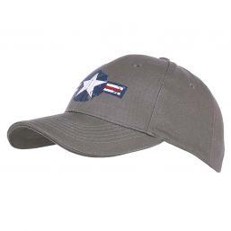 Baseballcap US Airforce, grau